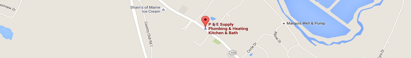 map directions to P&E supply Sanford Maine